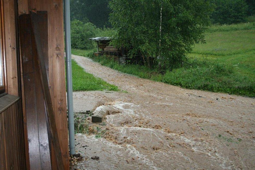 Povodeň na Jilemnicku - Dolní Štěpanice