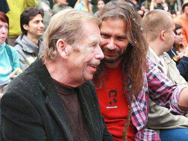 Martin Věchet s Václavem Havlem