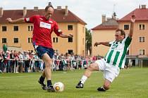 Přijela reprezentace. Fotbal v Horňáku slavil sedmdesát