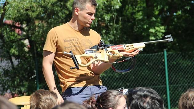 Biatlonista Michal Krčmář v Pilníkově
