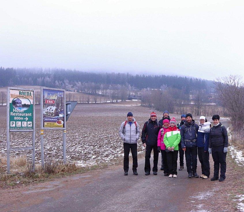 Silvestrovský výstup na vrch Žalý.