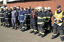 Cvičení hasičů v Bozkově