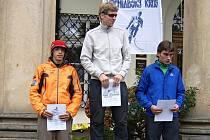 TŘI NEJRYCHLEJšÍ – 1. místo Pavel Brýdl, 2. místo Radoslav Groh, 3. místo, Martin Berka.