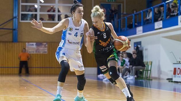 Soupeřem Trutnova ve čtvrtfinále play off ŽBL budou Žabiny Brno s reprezentační rozehrávačkou a trutnovskou odchovankyní Petrou Záplatovou (na snímku).