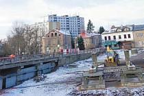 Staví se mostní provizorium