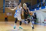 Ženská basketbalová liga: BK Loko Trutnov - Basket Žabiny Brno 61:89.