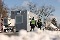 Policejní kontroly ve Vrchlabí.