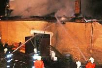 Víkendový požár v Horní Brusnici - 19. dubna 2009