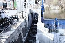 RYBÍ PŘECHOD ve Vrchlabí je umístěn do toku řeky Labe a tvoří celkem ho jednadvacet komor se štěrbinami.