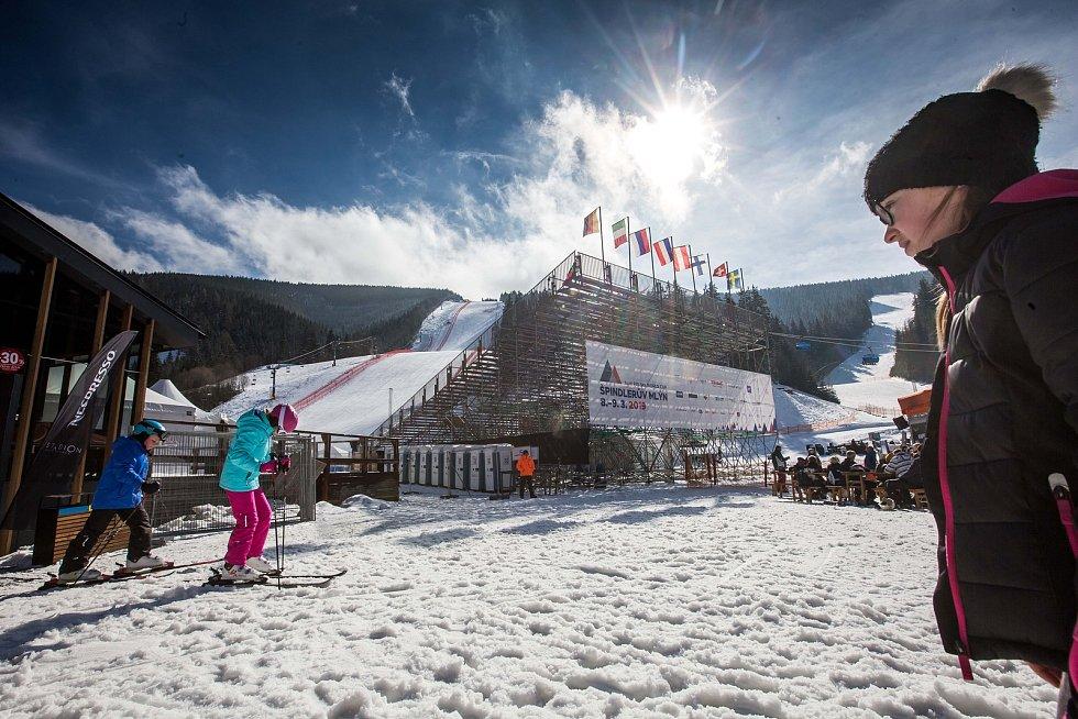 Špindlerův Mlýn je nachystán na Světový pohár v alpském lyžování.