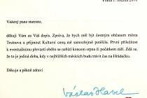 Dopis Václava Havla