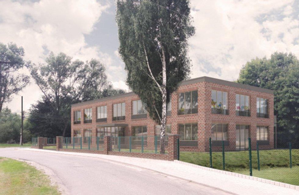 Vizualizace nové mateřské školy v Pilníkově.