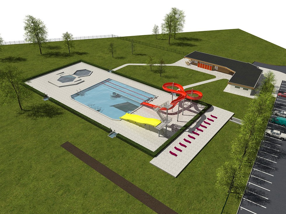 Jablko sváru. Takhle vypadá projekt jilemnického koupaliště, kvůli kterému se odehraje příští pátek a sobotu referendum.