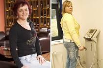 JAROSLAVA ŘÍHOVÁ A LENKA BERKOVÁ, finalistky reality show Fit s Deníkem.
