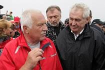 Miloš Zeman a Václav Klaus na Svatovavřinecké pouti