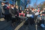 Zahájení adventu ve výrobním družstvu Vánoční ozdoby Dvůr Králové nad Labem.