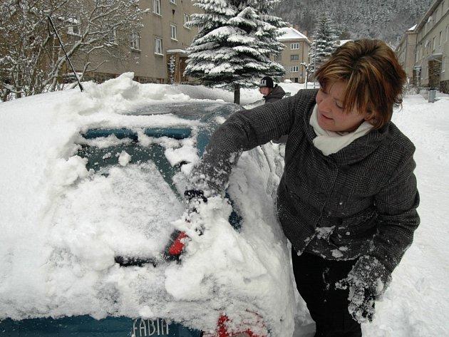 Návrat zimy do Krkonoš