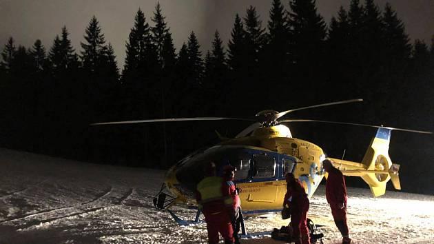 Vrtulník v terénu