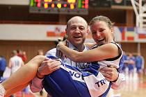 Trenér Martin Petrovický s Darinou Mišurovou.