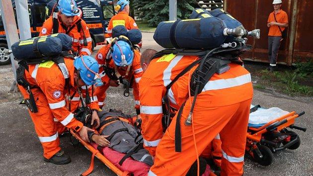 Záchranáři již podruhé trénovali v elektrárně.