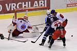 Hokejisté Vrchlabí na vlastním ledě ztratili body proti Letňanům.