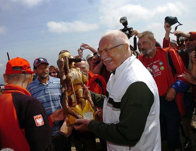 Svatovavřinecká pouť 2009 - prezident Klaus na Sněce
