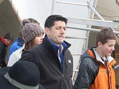 Ze soukromé návštěvy třetího muže politiky v USA Paula Ryana v Kutné Hoře.
