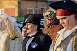 Tradici masopustních průvodů obnovili v sobotu 8. února v Křeseticích nedaleko Kutné Hory.