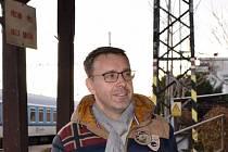 Z čáslavské návštěvy ministra dopravy Vladimíra Kremlíka.
