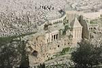 Kidrónské údolí u Getsemanské zahrady v v Jeruzalémě.