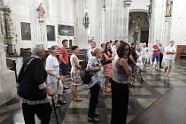 Z komentované prohlídky kostela sv. Jakuba v Kutné Hoře s Karlem Vopařilem.