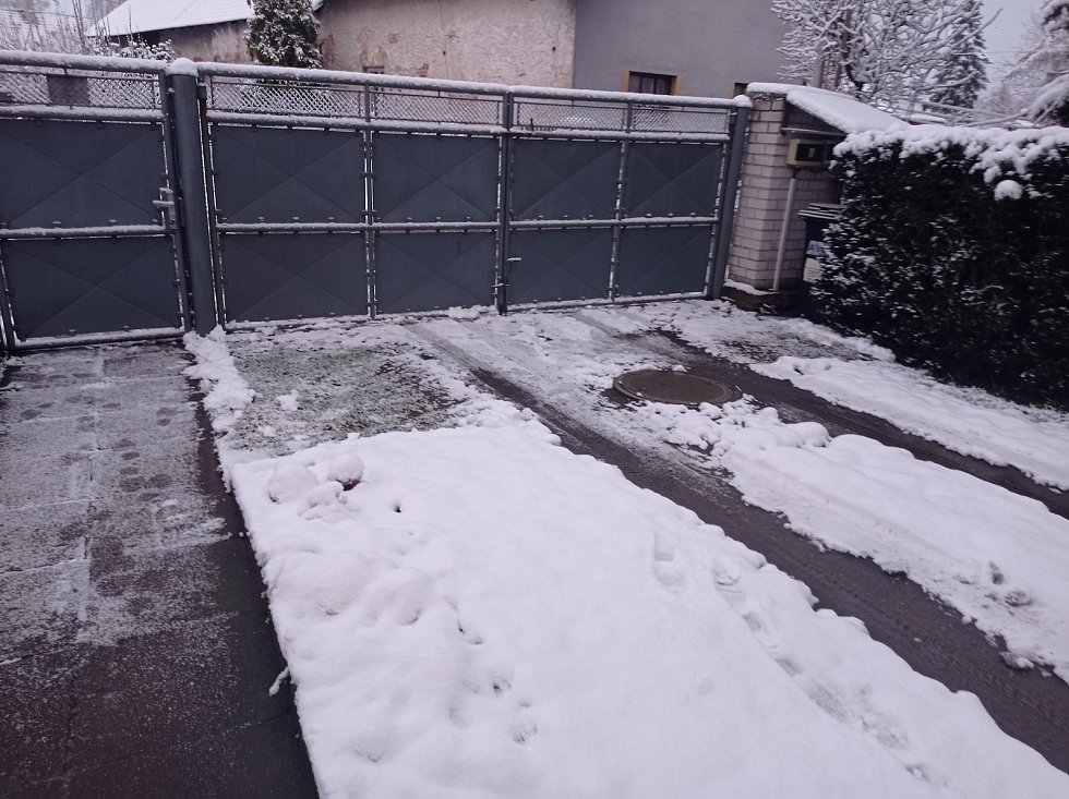 Martin Čížek zaslal sněhovou nadílku z Kutné Hory.