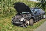 Dopravní nehoda u Staňkovic, odbočka na Ostašov.