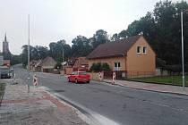Místo v ulici Na Bělišti v Čáslavi, kde bude osvětlený přechod pro chodce.