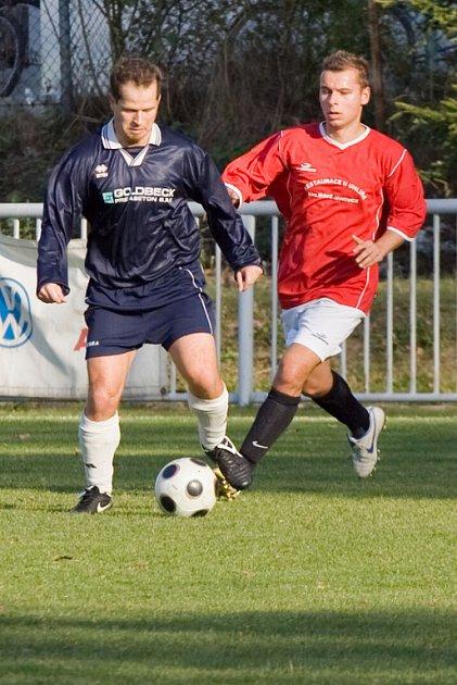 Z utkání OP U. Janovice B - Vrdy 2:2, neděle 28. září 2008