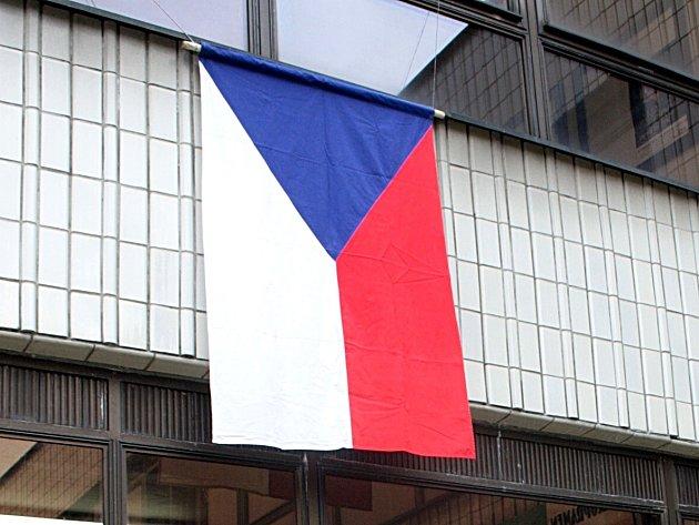 Česká vlajka. Ilustrační foto.