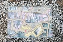 Maketa části orientačního systému u chrámu svaté Barbory