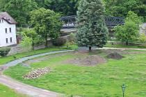 Revitalizace parku pod Vlašským dvorem v Kutné Hoře.