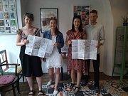 Ze slavnostního křtu kutnohorské USE-IT mapy.
