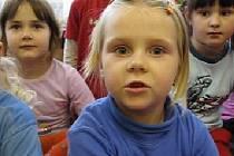 Děti v Mateřské škole v Benešově ulici v Kutné Hoře.