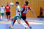 Sestřih zápasu III. čtvrtfinále play off CHANCE futsal ligy: FC Benago Zruč n. S. - FC Rádio Krokodýl Brno 9:3, 22. dubna 2016.