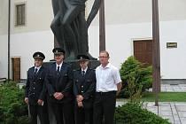 Vyznamenaní členové SDH Žleby.