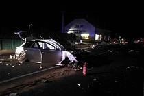 Dopravní nehoda v obci Drobovice 23. prosince 2019.