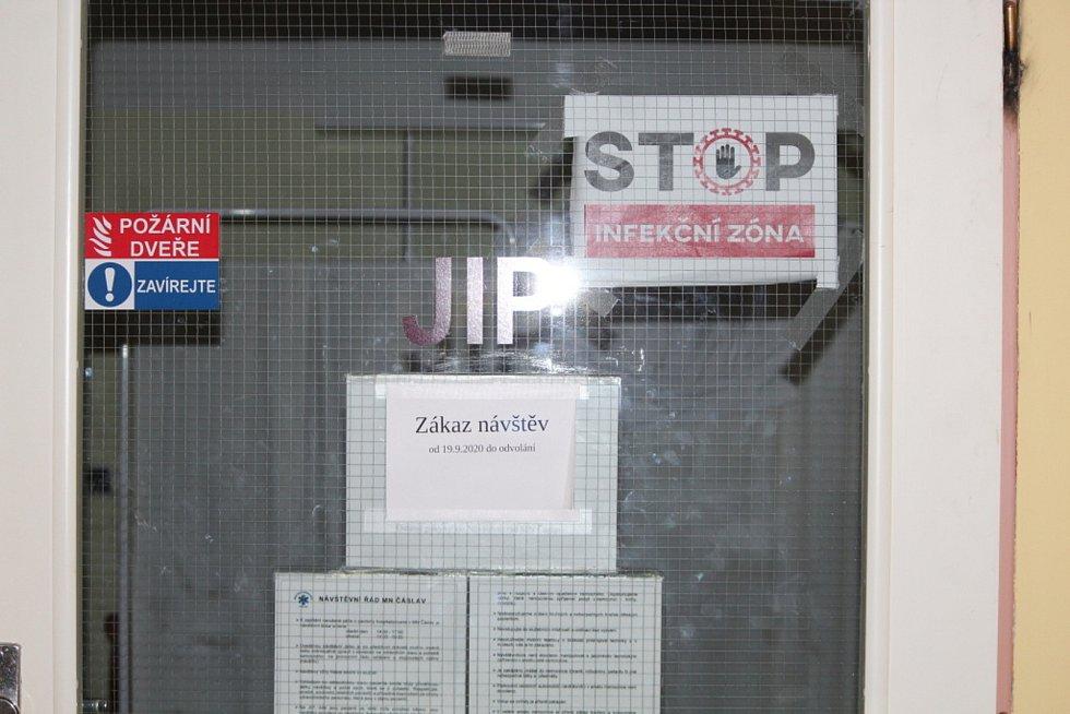 Z covidového oddělení Městské nemocnice v Čáslavi.