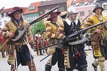 Rekonstrukce historické události z období třicetileté války z dějin Čáslavi.
