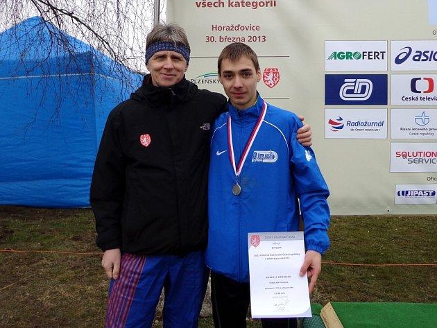 Dominik Kubec s trenérem Wastlem.