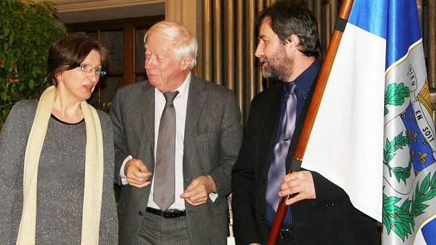 Kutnohorský starosta Ivo Šálátek (vpravo) na návštěvě francouzské Remeše.