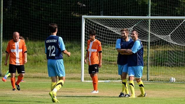 Finále Okresnifotbal.cz Superpoháru 2015: Zruč n. S. - Uhlířské Janovice 2:3, 9. srpna 2015.