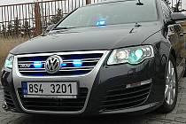 Volkswagen Passat dálničního oddělení Policie České republiky.