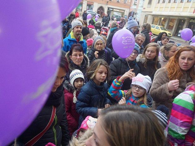 Vypouštění balónků s přáním k Ježíškovi
